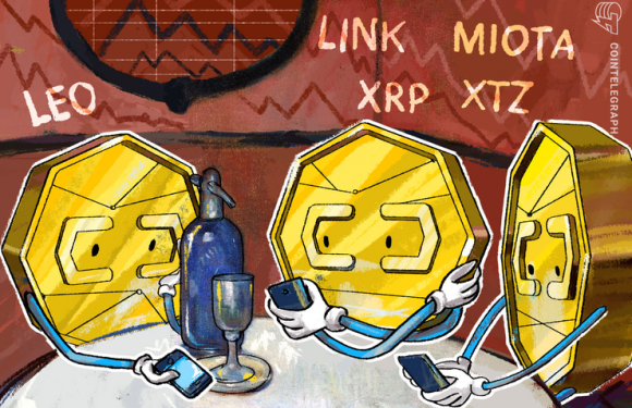 Top-5 Crypto Performers:  LEO, LINK. MIOTA, XRP, XTZ