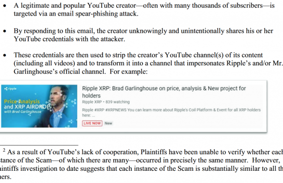 """Ripple Files Lawsuit Against YouTube: """"Enough Is Enough"""""""