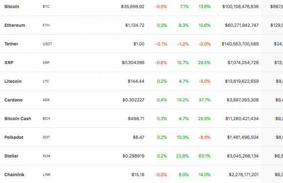 XLM re-enters top-10 coins by market cap after surging nearly 30%